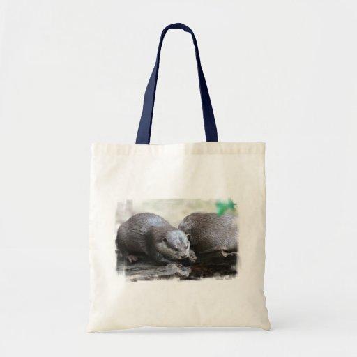 Otter Pair Tote Bag