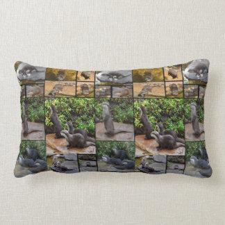 Otter Photo Collage, Lumbar Cushion. Lumbar Pillow