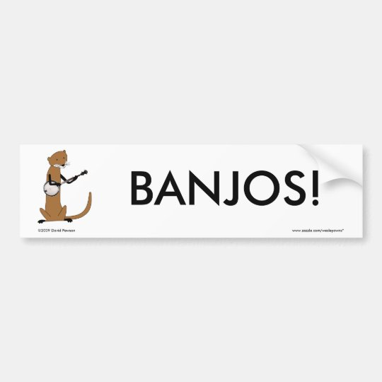 Otter Playing the Banjo Bumper Sticker