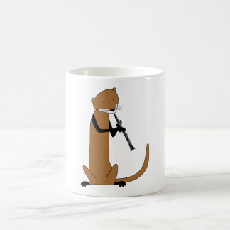Otter Playing the Clarinet Coffee Mug