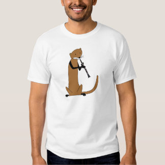 Otter Playing the Clarinet T Shirts