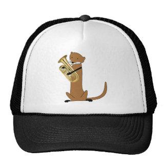 Otter Playing the Euphonium Trucker Hat