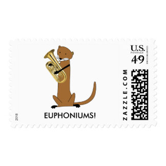 Otter Playing the Euphonium Stamps