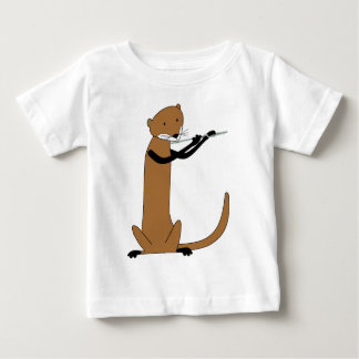 Otter Playing the Flute T Shirts