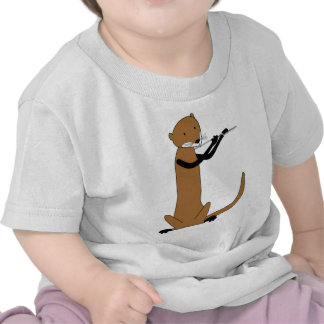 Otter Playing the Flute Tshirt