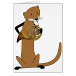 Otter Playing the French Horn Cards