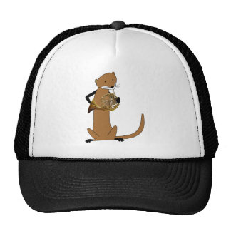 Otter Playing the French Horn Trucker Hat