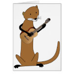 Otter Playing the Guitar Greeting Cards