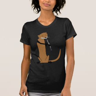 Otter Playing the Oboe Tees