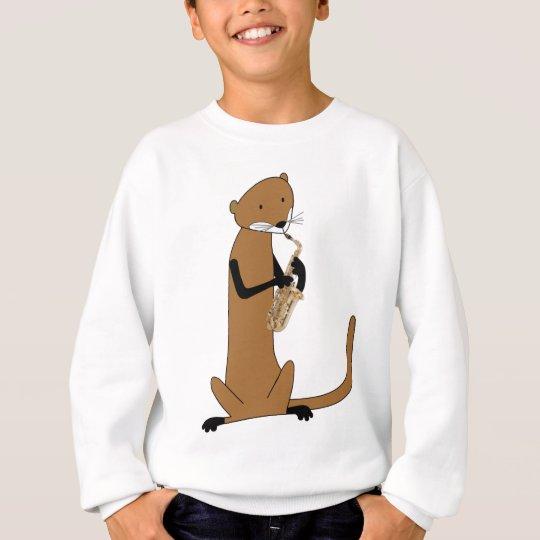 Otter Playing the Saxophone Sweatshirt
