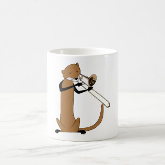 Otter Playing the Trombone Classic White Coffee Mug
