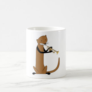 Otter Playing the Trumpet Coffee Mug