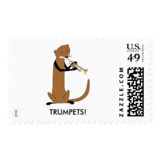 Otter Playing the Trumpet Postage