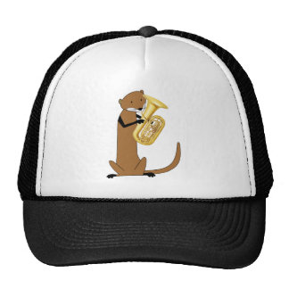 Otter Playing the Tuba Trucker Hat