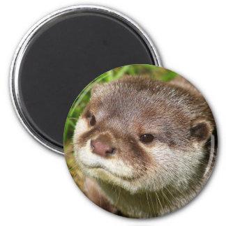 Otter Portrait 2 Inch Round Magnet