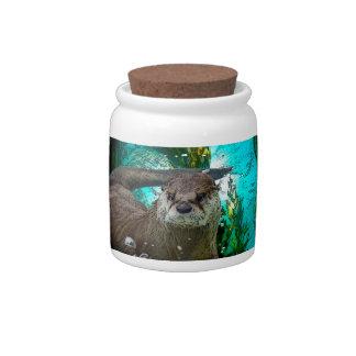 Otter Portrait Candy Jar