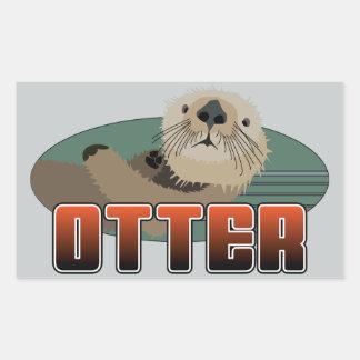 OTTER Rectangle Sticker
