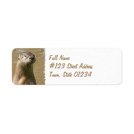 Otter Return Address Label