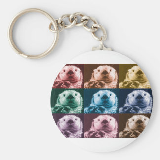 Otter See you Basic Round Button Keychain