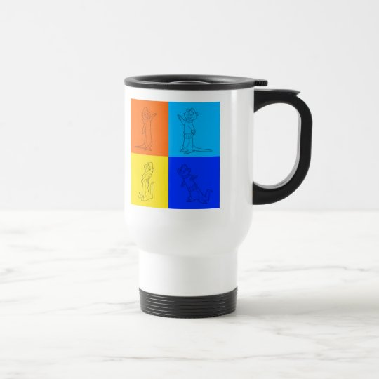Otter Squares Travel Mug