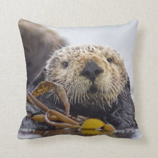 Otter Surprise and River Otter pair 2 sided Pillow