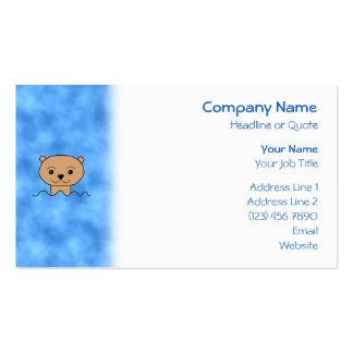 Otter Swimming. Business Card Template