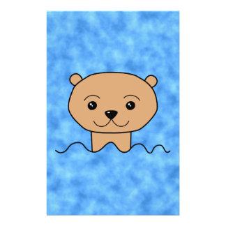 Otter Swimming. Flyer Design
