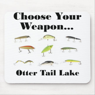 otter tail choose weapon mouse pad