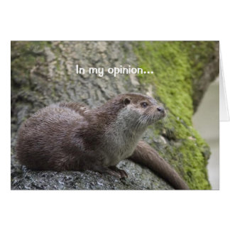 Otter Thoughts Greeting Card