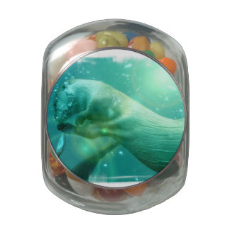 Otter Underwater Jelly Belly Candy Jar
