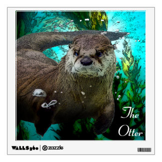 Otter Underwater Wall Decal