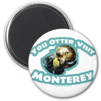 Otter visit Monterey Refrigerator Magnets