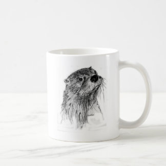 Otter Whiskers Classic White Coffee Mug
