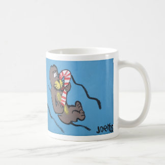 Otter with Candy Cane by Joel Anderson Mug