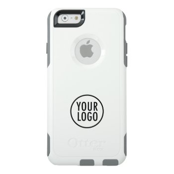 Otterbox Iphone 6 White Commuter Case Custom Logo by MISOOK at Zazzle