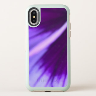 Otterbox iPhone X Purple Petal Design