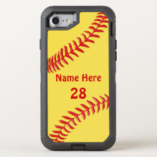 Otterbox Softball Phone Cases with Your Text