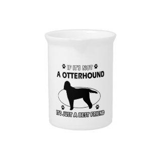 Otterhound dog breed designs beverage pitchers