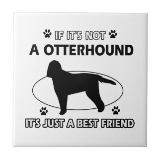 Otterhound dog breed designs ceramic tile