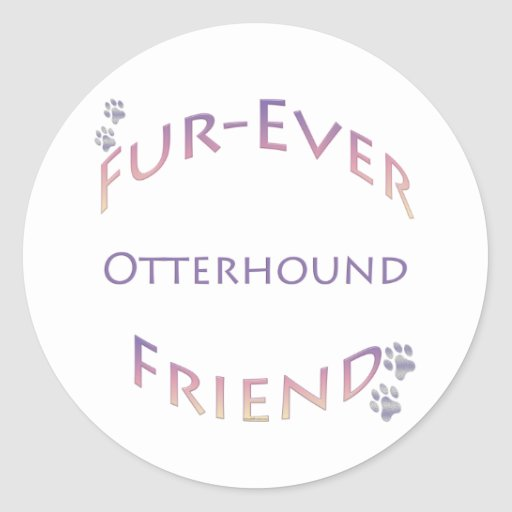 Otterhound Furever Pegatina Redonda