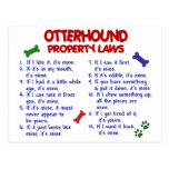 OTTERHOUND Property Laws 2 Post Cards