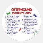 OTTERHOUND Property Laws 2 Round Stickers