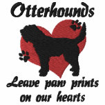 Otterhounds Leave Paw Prints Embroidered Hoodie
