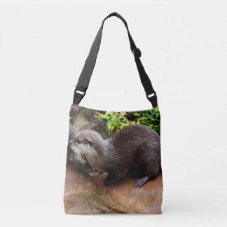 Otterly_Adorable_Full_Print Cross Body Bag, Medium Tote Bag