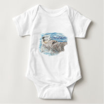 Otterly Adorable Humorous Cute  Otter Animal Baby Bodysuit