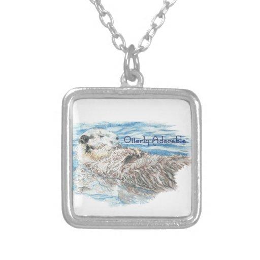 Otterly Adorable Humorous Cute  Otter Animal Pendants