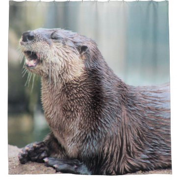 Otterly hilarious shower curtain