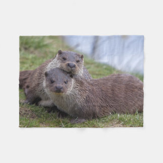Otterly in Love Fleece Blanket