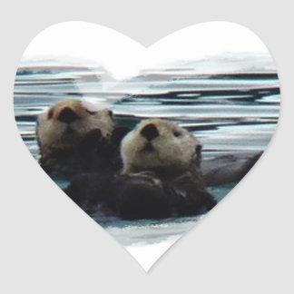 otterly in Love sea otter heart sticker