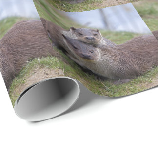 Otterly in Love Wrapping Paper